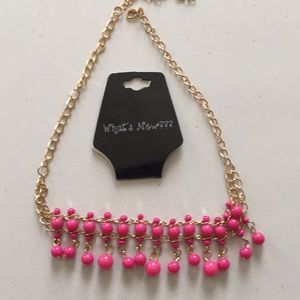 """What's New???"" Pink Layered necklace , NWT"